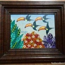 Varios objetos de Arte: PINTURA FIGURATIVA FIRMADA RINALDO Y FECHADA EN 1995. Lote 106103419