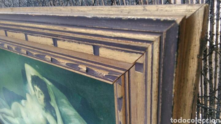 Varios objetos de Arte: La maja desnuda cuadro de grandes dimensiones marco de madera 97 cm x 59 cm Goya - Foto 4 - 106631055