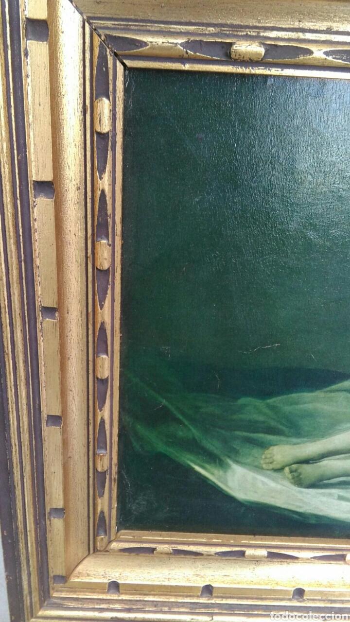 Varios objetos de Arte: La maja desnuda cuadro de grandes dimensiones marco de madera 97 cm x 59 cm Goya - Foto 6 - 106631055