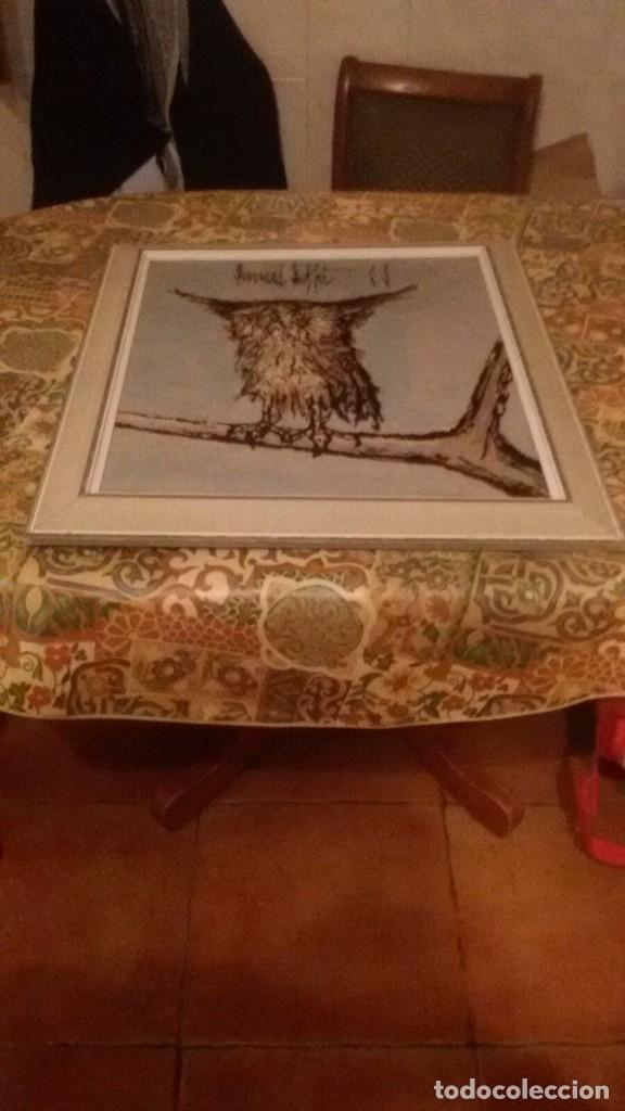 Varios objetos de Arte: precioso cuadro hecho en punto de cruz,búho,firmado por el autor. - Foto 2 - 106750727