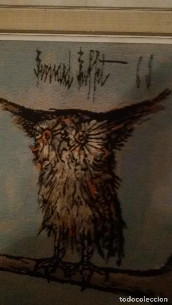 Varios objetos de Arte: precioso cuadro hecho en punto de cruz,búho,firmado por el autor. - Foto 3 - 106750727