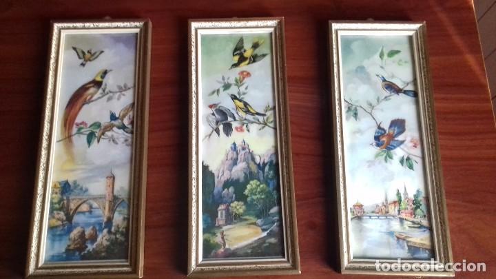 Serie De 3 Cuadros Pequenos Anos 60 Comprar En Todocoleccion - Cuadros-pequeos