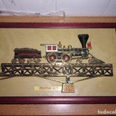 Varios objetos de Arte: CUADRO TREN EN RELIEVE METALICO CON MARCO - PHANTOM 1857.. Lote 107736431