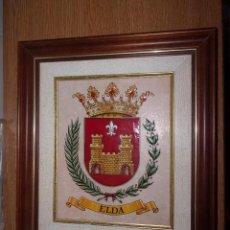 Varios objetos de Arte: CUADRO ESCUDO DE ELDA.. Lote 107736939