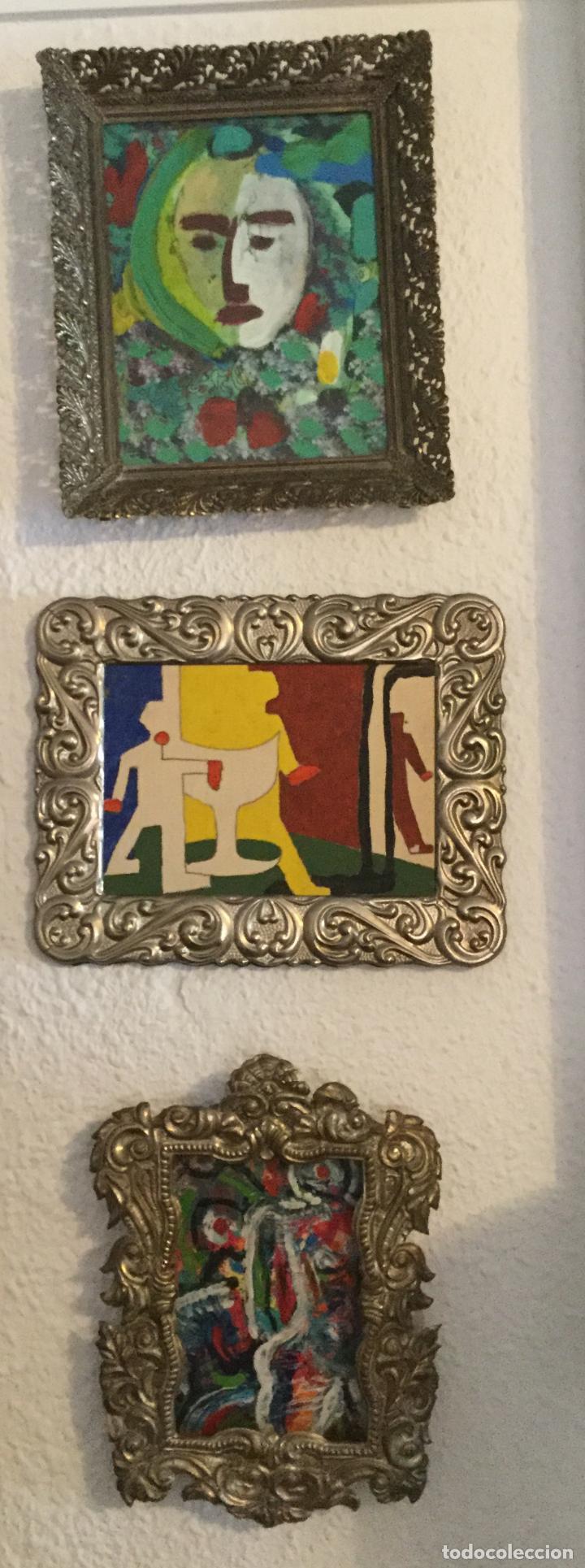 tres cuadros con el marco de metal plateado - Comprar en ...