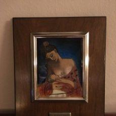Varios objetos de Arte: CUADRO PICASSO ESMALTADO AL FUEGO.. Lote 108330516