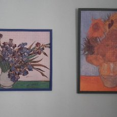 Varios objetos de Arte: LOTE 2 PUZZLES GIRASOLES Y LIRIOS VAN GOGH HECHOS. Lote 108332343