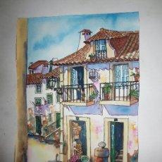 Varios objetos de Arte: EXCELENTE ACUARELA ORIGINAL ANTIGUA FIRMADA ROBERTO ALICANTE. Lote 109144087