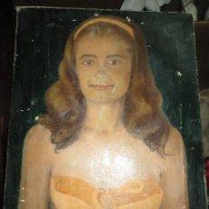 Varios objetos de Arte: ESCUELA FRANCESA PINTURA ANTIGUA OLEO RETRATO FIRMA ILEGIBLE. Lote 82891868