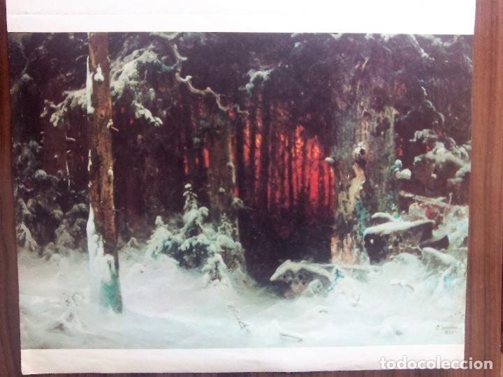 Varios objetos de Arte: 8 laminas del calendario de arte de Bayer del año 1979 - Foto 4 - 110070591