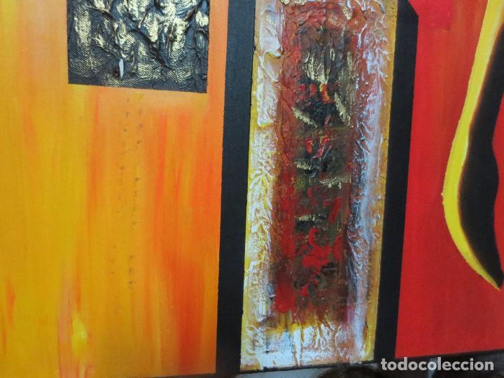 Varios objetos de Arte: desnudo FEMENINO oleo ORIGINAL EN lienzo 90 X 75 pintura vanguardista autor por estudiar - Foto 3 - 110084379