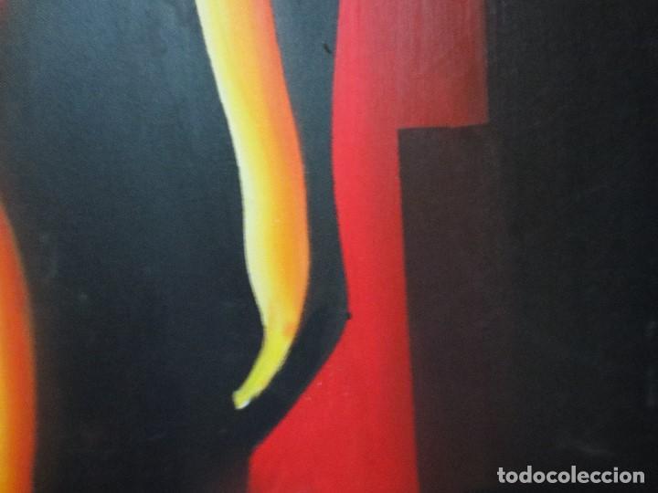 Varios objetos de Arte: desnudo FEMENINO oleo ORIGINAL EN lienzo 90 X 75 pintura vanguardista autor por estudiar - Foto 4 - 110084379