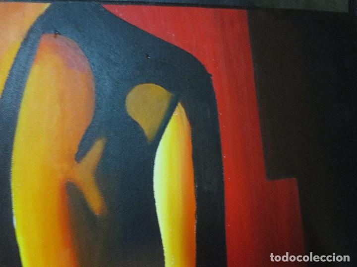 Varios objetos de Arte: desnudo FEMENINO oleo ORIGINAL EN lienzo 90 X 75 pintura vanguardista autor por estudiar - Foto 5 - 110084379