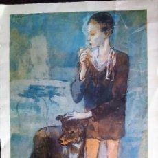 Varios objetos de Arte: LAMINA DEL CUADRO NIÑO CON PERRO DE PABLO PICASSO. Lote 110114247