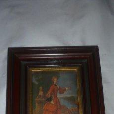 Varios objetos de Arte: CUADRO EN TELA DE SEDA. Lote 110120391