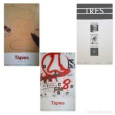 Varios objetos de Arte: LOTE DE 3 CARTELES ORIGINALES DE TAPIES - 1987 / 88 / ¿? SIN FECHA. Lote 110138695