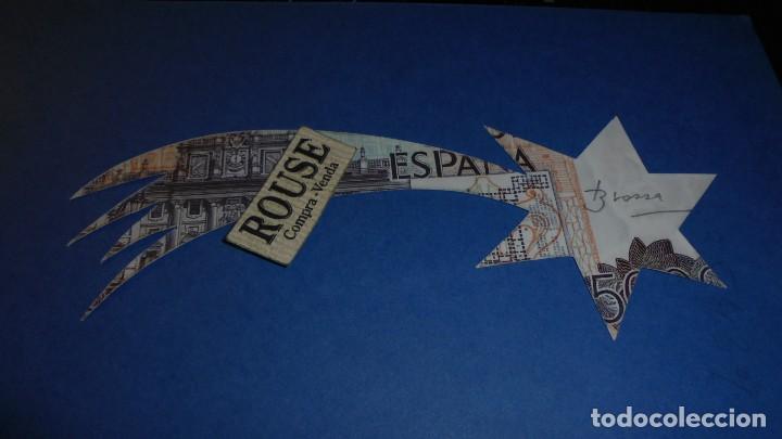 JOAN BROSSA POEMA VISIAL - NADAL 1989 - BILLETE DE 5000 PTS TROQUELADO FIRMADO A LAPIZ BROSSA (Arte - Varios Objetos de Arte)