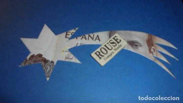Varios objetos de Arte: JOAN BROSSA POEMA VISIAL - NADAL 1989 - BILLETE DE 5000 PTS TROQUELADO FIRMADO A LAPIZ BROSSA - Foto 3 - 110447927