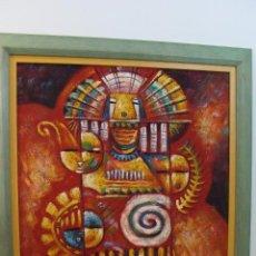 Varios objetos de Arte: ACRÍLICO SOBRE TABLERO - FIRMADO - SIGLO XX. Lote 110731619