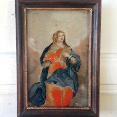 Varios objetos de Arte: PINTURA SOBRE VIDRIO DEL SIGLO XVIII. Lote 111379435