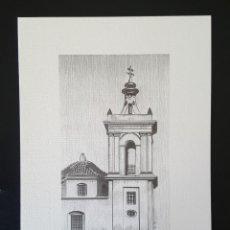 Varios objetos de Arte: LÁMINA ARTISTICA DE PUERTO REAL (CÁDIZ). TORRE IGLESIA DE SAN JOSÉ. Lote 111424723