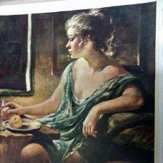 Varios objetos de Arte: 10 CUADROS LAMINAS ESTAMPADOS SOBRE TELA. Lote 112029955