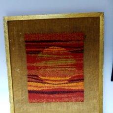 Varios objetos de Arte: J.A. KEMP (ESTADOS UNIDOS) OBRA ORIGINAL EN ARPILLERA, ENMARCADA.. Lote 112170236