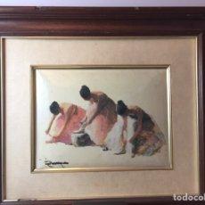 Varios objetos de Arte: CUADRO ESMALTADO FIRMADO. Lote 112358960