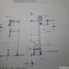Varios objetos de Arte: PLANOS ANTIGUOS DE EDIFICIO LOTE DE UNOS 26. Lote 112661631