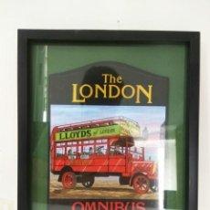 Varios objetos de Arte: CUADRO CARTEL PUBLICITARIO THE LONDON OMNIBUS PUB. Lote 64945845