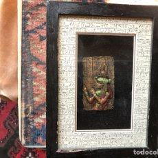 Varios objetos de Arte: BAJORRELIEVES ENMARCADOS. EGYPTO. Lote 113378890