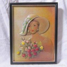 Varios objetos de Arte: CUADRO EN RELIEVE DE ELENA OLIVERA. Lote 113990783
