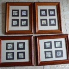 Varios objetos de Arte: LOTE DE 4 CUADROS ENMARCADOS CON 16 MINIATURAS IMPRESAS CON TEMAS DE IBIZA. DISTINTOS AUTORES. . Lote 114073071