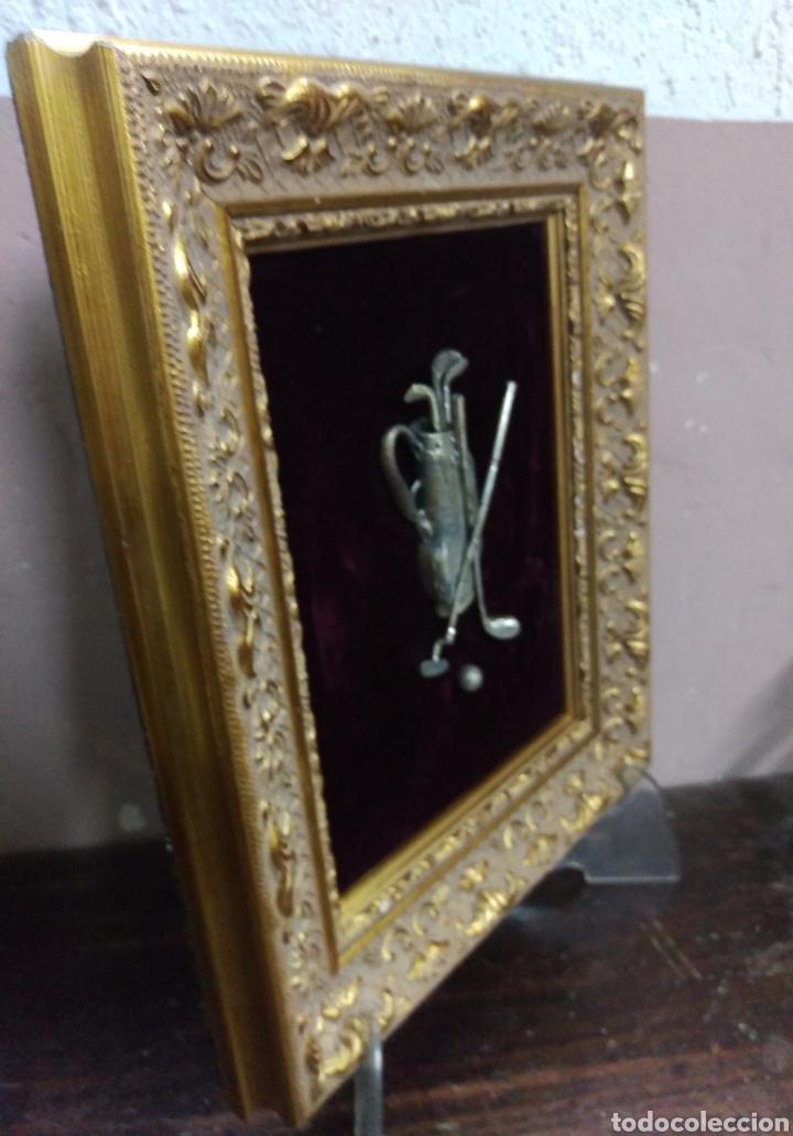 Varios objetos de Arte: Precioso cuadro sobre golf en plata 925 - Foto 7 - 114158491