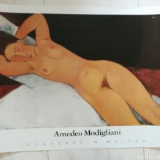 Varios objetos de Arte: CARTEL GRANDE. MODIGLIANI. GUGGENHEIM MUSEUM. ENVIO CERTIFICADO INCLUIDO.. Lote 114203954