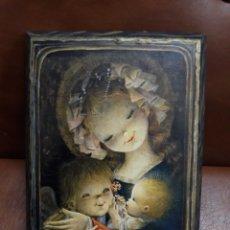 Varios objetos de Arte: CUADRO: LA VIRGEN Y EL NIÑO-FERRANDIZ.- ENTRAÑABLE AÑOS 1960/70. Lote 114374404