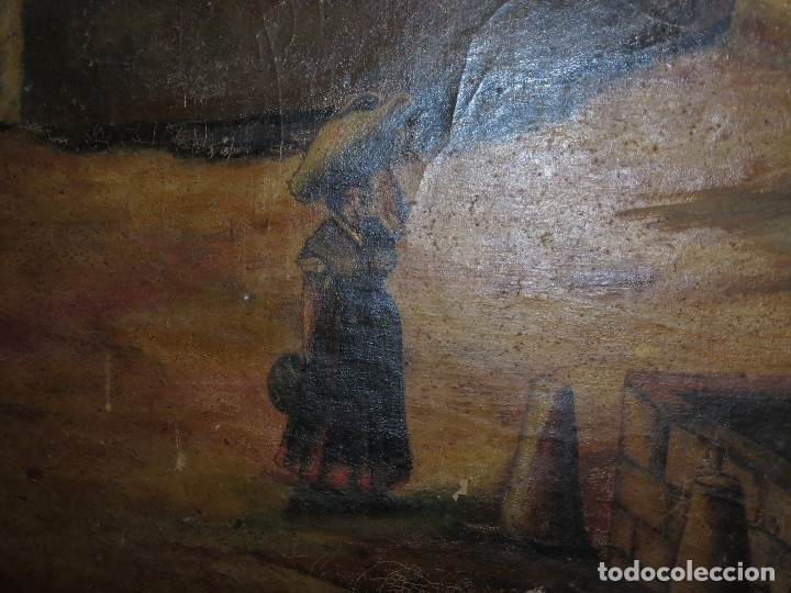 Varios objetos de Arte: ENORME PINTURA ANTIGUA OLEO LIENZO SIGLO XIX XVIII 150 X 120 - Foto 4 - 82969376