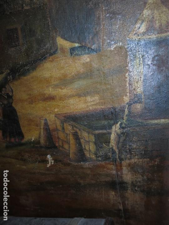 Varios objetos de Arte: ENORME PINTURA ANTIGUA OLEO LIENZO SIGLO XIX XVIII 150 X 120 - Foto 6 - 82969376