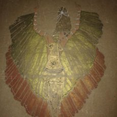 Varios objetos de Arte: PRECIOSA COLECCIÓN DE 13 FIGURINES DE TEATRO PINTADOS A MANO SOBRE PAPEL CEBOLLA MARRÓN. Lote 114835463