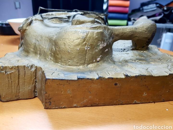 Varios objetos de Arte: Rara escultura, cara con gafas y pipa. 26x27cm aprox - Foto 11 - 114843602