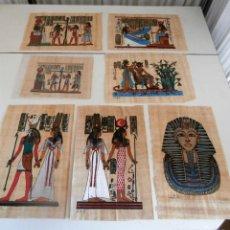 Varios objetos de Arte: LOTE DE 14 REPLICAS DIBUJOS EGIPCIOS EN PAPIRO. Lote 114946387