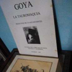 Varios objetos de Arte: LOTE DE 10 CUADROS AGUAFUERTES GOYA. Lote 115038707