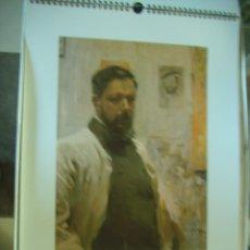 Varios objetos de Arte: CALENDARIO HOMENAJE A JOAQUIN SOROLLA 1999 GRAFICAS VICENT LA CAJA DEL TIEMPO (TAMAÑO GRANDE). Lote 115187559
