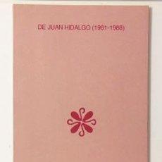 Varios objetos de Arte: ZAJ - JUAN HIDALGO (1981-1988) GALERÍA ESTAMPA. (EDICIÓN DE LA GALERÍA: 200 EJEMPLARES. . Lote 115307603