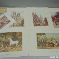 Varios objetos de Arte: GRABADOS ORIGINALES DE XIX GALERIA APOLO DE BRUSELAS. Lote 115629899
