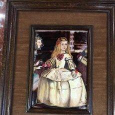 Varios objetos de Arte: MENINA , VELAZQUEZ, ESMALTE DECORARTIS. Lote 116103975