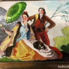 Varios objetos de Arte: ESCENA GOYESCA . ESMALTE SOBRE METAL . Lote 116105059