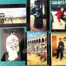 Varios objetos de Arte: RAMÓN CASAS EN EL MNAC Y EN MAPFRE – ENERO-JUNIO DE 2001 – TRÍPTICO Y 6 FOTOGRAFÍAS DE GRAN CALIDAD. Lote 116128031