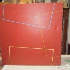 Varios objetos de Arte: LIENZO ABSTRACTO CON PINTURA ACRÍLICA. 65 X 65 CMS.. Lote 116291299