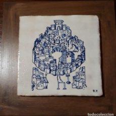 Virgen con ni o pintura a os 60 sobre azulejo o comprar en todocoleccion 66031854 - Azulejos onda castellon ...